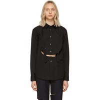 Comme Des Garcons Homme Plus Black Cut Out Shirt