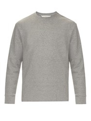 Golden Goose Mel Crew Neck Cotton Jersey Sweatshirt Grey