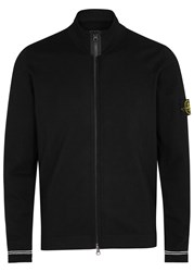 Stone Island Black Cotton Cardigan