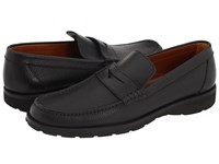 A. Testoni Penny Loafer Mocassin Nero Men's Slip On Shoes Black