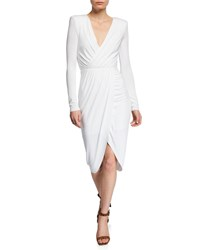 Bailey 44 Asymmetric Jersey Midi Dress White