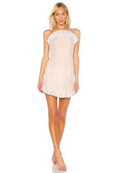 Bcbgeneration Ruffle Hem Mini Dress Pink
