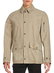 Ralph Lauren Caleb Leather Jacket Taupe
