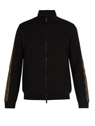 Fendi High Neck Zip Through Track Top Black