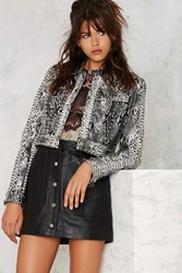 Nasty Gal Python Icon Studded Jacket