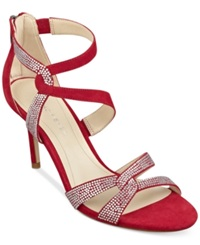 Marc Fisher Lexcie Evening Sandals Women's Shoes Red