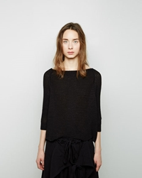 Forme D'expression Knit Poncho Pullover Off Black