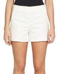 1.State Solid Flat Front Shorts White