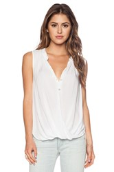 Velvet By Graham And Spencer Rayon Challis Rani Tank White
