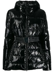 Pinko Belted Puffer Jacket Black