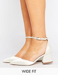 Asos Starling Wide Fit Bridal Pointed Heels Ivory White