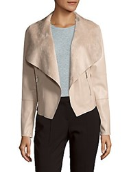 Bagatelle Open Front Faux Leather Jacket Toasted Almond