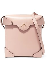 Manu Atelier Pristine Mini Leather Shoulder Bag Pink