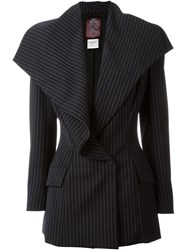 John Galliano Vintage Pinstripe Jacket Black