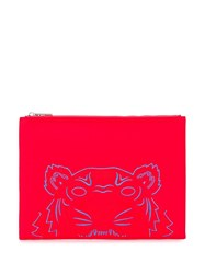 Kenzo Tiger Clutch Red