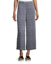 Theory Raoka Olina Striped Culottes Deep Navy Multi