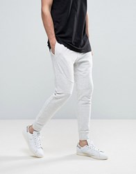 New Look Slim Biker Joggers In Ecru Oatmeal Cream