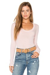 Stateside Scoop Neck Rib Tee Peach