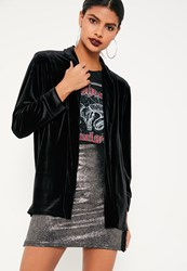 Missguided Black Slouchy Velvet Blazer