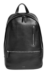 Skagen Men's Kr Yer Faux Leather Backpack Black