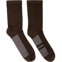 Rick Owens Brown Glitter Socks