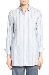 Nordstrom Women's Collection Variegated Stripe Belted Tunic