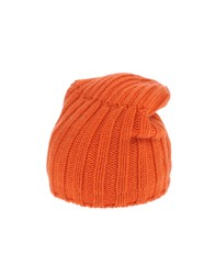 Roberto Collina Hats Orange