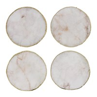 Amara Agate Coasters Set Of 4 White