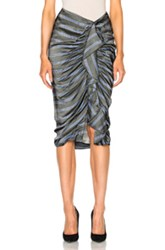 Veronica Beard Drew Cascade Ruffle Pencil Skirt In Gray Stripes Gray Stripes