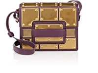 Delvaux Madame Mini Leather Shoulder Bag Prune