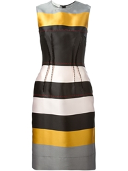 Cedric Charlier Cedric Charlier Striped Fitted Dress