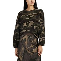 Atm Anthony Thomas Melillo Camouflage Cotton Crop Sweatshirt Green