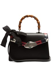 Gucci Lilith Small Bamboo Handle Leather Bag Black
