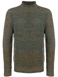 Santoni Roll Neck Sweater Green