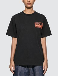 Aries Classic Temple T Shirt Black