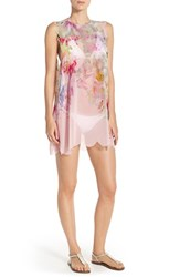 Women's Ted Baker London 'Lacina' Garden Print Cover Up Tunic