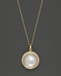 Ippolita 18K Yellow Gold Mini Lollipop Pendant Necklace In Mother Of Pearl With Diamonds