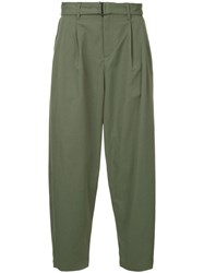 Attachment Pleated Trousers Green