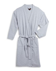 Black Brown Waffle Knit Robe Grey