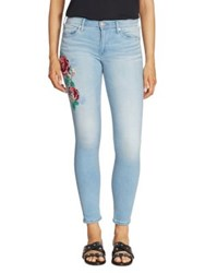 True Religion Halle Floral Embroidered Skinny Jeans Dpel Bali Blue