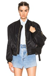Vetements 2 Side Zip Bomber In Black