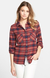 Element 'Slacker' Flannel Shirt Raspberry