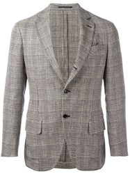 Massimo Piombo Mp Striped Unconstructed Blazer Brown