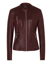 Olsen Faux Leather Jacket Red