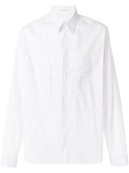 Cedric Charlier Striped Shirt White