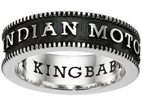 King Baby Studio Indian Motorcycle Logo Coin Edge Band Silver Ring