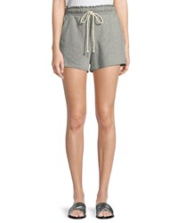 A.L.C. Russell Drawstring Cotton Shorts Gray