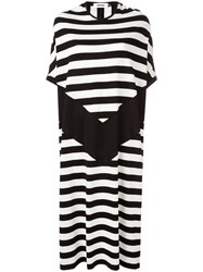 Marios Striped Shift Dress Black