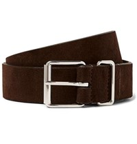 Andersons Anderson's 3.5Cm Dark Brown Suede Belt Brown
