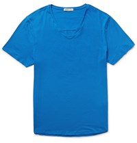 Onia Joey Slim Fit Stretch Supima Cotton Jersey T Shirt Blue